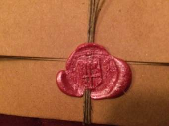 Wax Seal - From handmade stamp