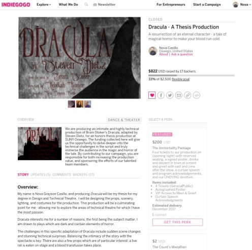 IndieGoGo Campaign Page