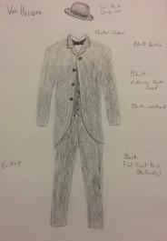 Van Helsing Costume Rendering