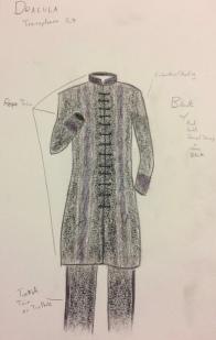 Dracula Transylvania Costume Rendering