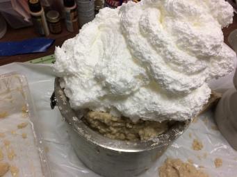 Spray Foam Expanding in Mold