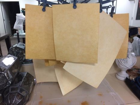 Drying Kraft-tex Paper