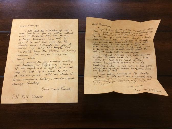 Inside Roderigo Letters