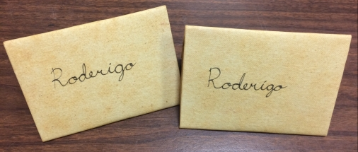 Letters found of Roderigo