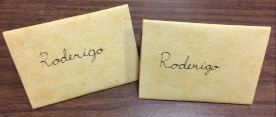 Letters found of Roderigo