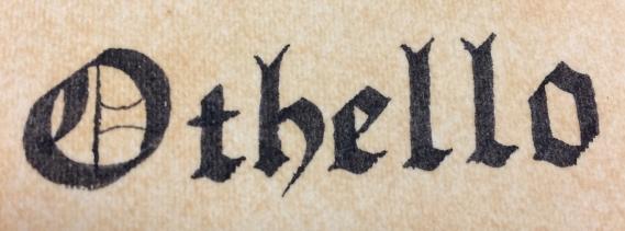 Othello Calligraphy