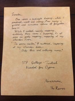 Letter for Senator