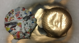 Painted Paper Mache Shell