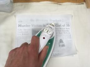 Ironing on Fabric Transfers