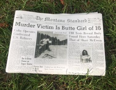 1960 Montana Standard Newspaper on Fabric